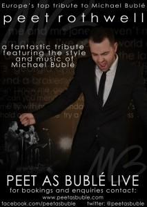 Peet as Bublé - Michael Buble Tribute Act