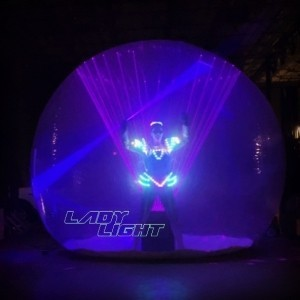 Lady Light Lasergirl - Laser Act - LED Entertainment