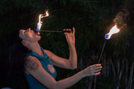 Chelsea Sphere - Fire Performer