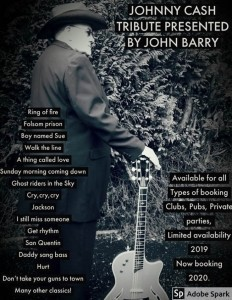 John Barry - Frank Sinatra Tribute - Johnny Cash Tribute Act