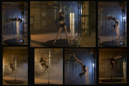 handstand / pole act / aerial hoop / light painting - Acrobalance / Adagio / Hand to Hand Act