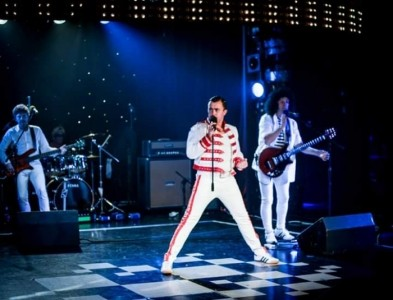 Ian Adams as Freddie Mercury - Freddie Mercury Tribute Act