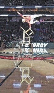 Chairs balancing act - Circus Performer