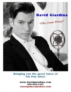 David Giardina, the Croon Prince - Male Singer