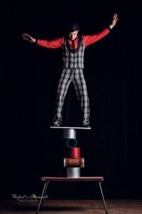 HandStand Equilibrium and Rolla Bolla Balance - Circus Performer