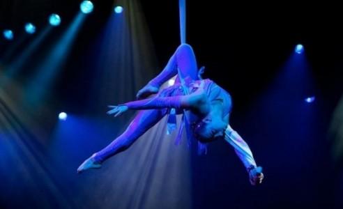 From the Ukraine on the aerial silk the graceful Oksana - Aerialist / Acrobat