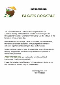 PACIFIC COCKTAIL - Duo