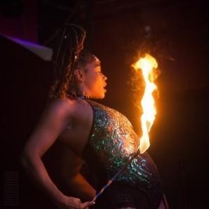 Blue Flame Flow Artist - Fire Performer