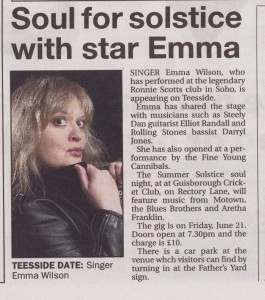 Emma Wilson - Female Singer