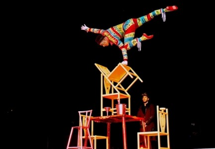 Chairs balancing act - Circus Performer
