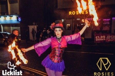 Irie Feather Fire show - Fire Performer