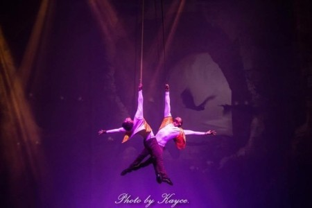 Duo strap act. Duo arial pole act. Cyr whell act. Cube act. Solo straps act - Aerialist / Acrobat