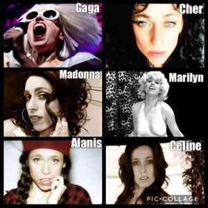 Lady Gaga, Marilyn Monroe, Celine Dion, Alanis Morissette, Madonna Tribute - Multiple Tribute Act