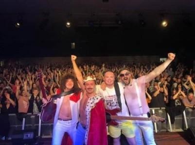 Ian Adams as Freddie Mercury - Freddie Mercury Tribute Act
