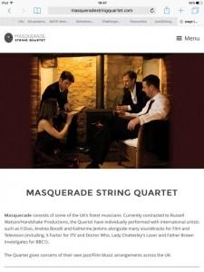 Masquerade String Quartet image