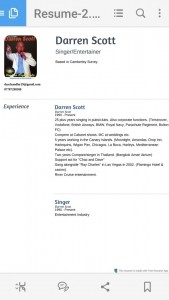 Darren Scott. Singer/Entertainer - Male Singer