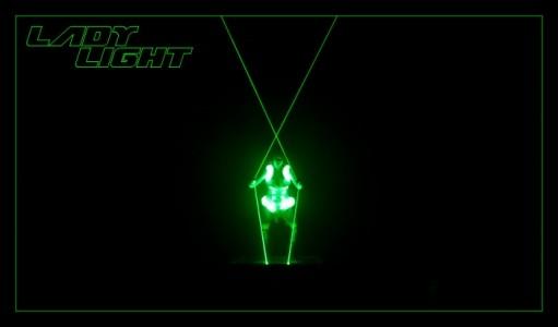 Lady Light Lasergirl - Laser Act - LED Entertainment