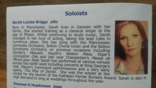 Sarah Louise Briggs - Female Singer