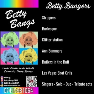 Betty Bangs Drag contact via Phone Call or sms  - Drag Queen Act