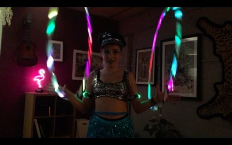 Spindarella LED high reflective show - Hula Hoop Performer