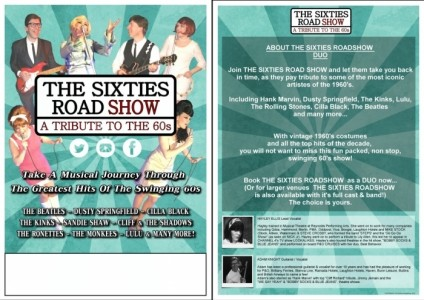 THE SIXTIES ROADSHOW - 60s Tribute Band