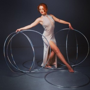 Duo Alternative Whips. Hula-Hoop. Magic - Circus Performer