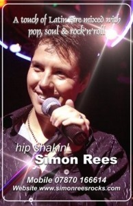 Simon Rees - Singer & Entertainer - Male Singer